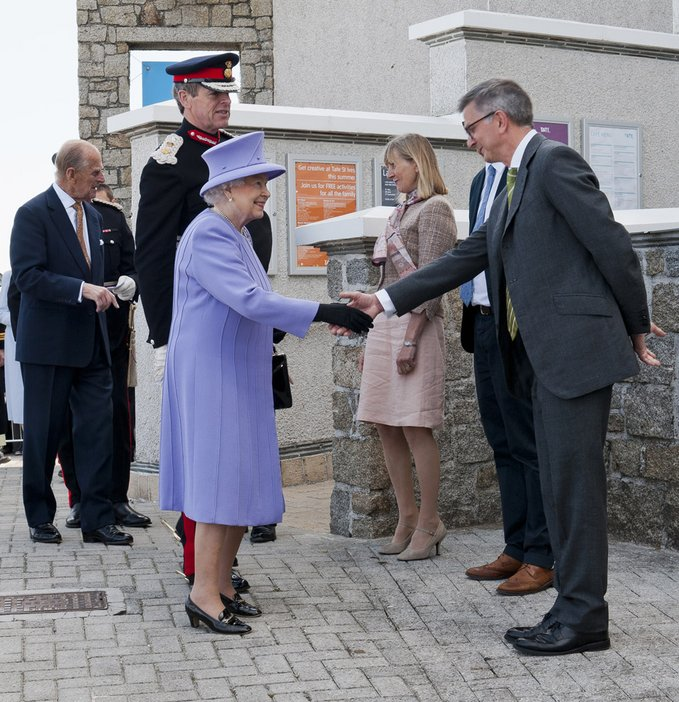 Queen and the Duke of Edinburgh visit Tate St Ives Friday 17th May 2013