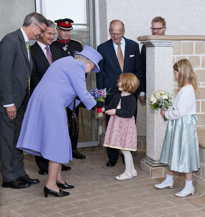 Queen and the Duke of Edinburgh visited Tate St Ives Friday 17th May 2013