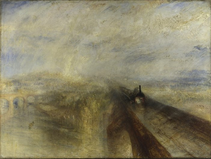 JMW Turner Rain, Steam, and Speed - The Great Western Railway 1844
