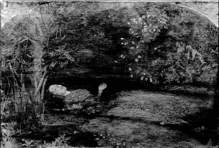 Ophelia under raking light