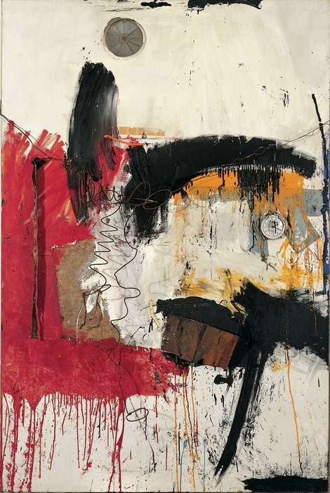 Robert Rauschenberg, First Time Painting, 1961