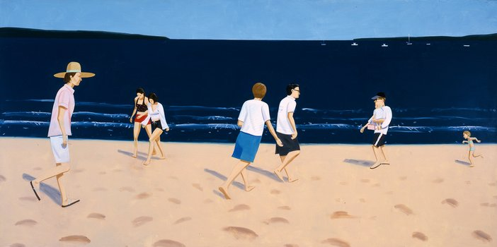 Alex Katz Walking on the Beach 2002