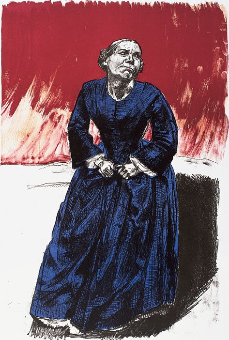 Paula Rego Come to Me 2001-2002 coloured lithograph 88.5 x 59 cm
