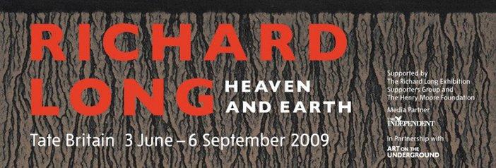 Richard Long Tate Britain exhibition banner