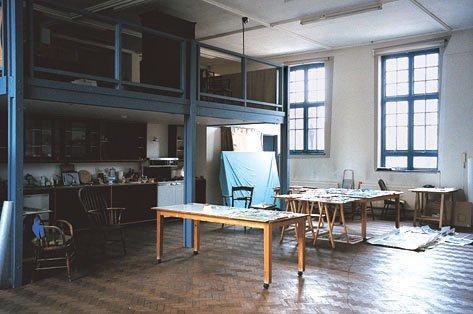 Bridget Riley's studio in London's East End