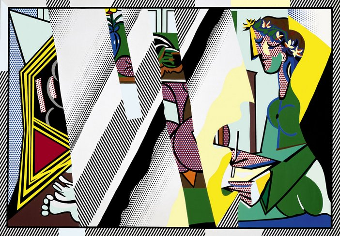 "Roy Lichtenstein 1923-1997 Reflections on ""Interior with Girl Drawing"" Oil and Magna on canvas 1990 The Eli and edythe L. Broad Collection, Los Angeles © Estate of Roy Lichtenstein/DACS 2012"