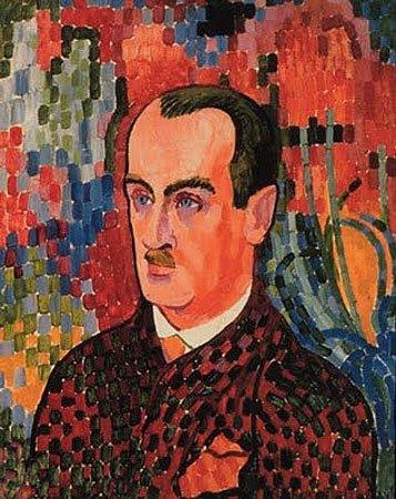 Robert Delaunay, Portrait de Wilhelm Uhde, 1907