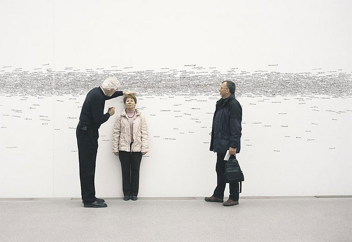 Roman Ondák, Measuring the Universe 2007