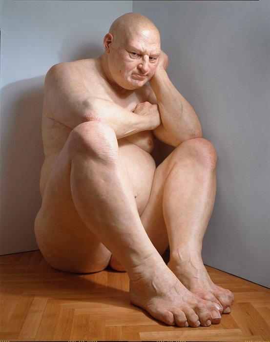 Ron Mueck Big Man 2000