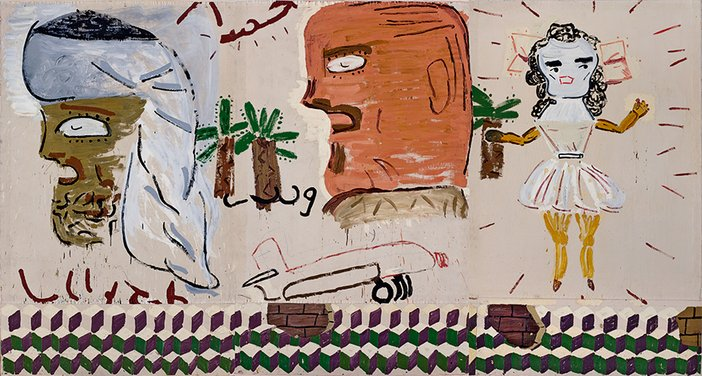 Rose Wylie - Arab and Dancing Girl, 2006