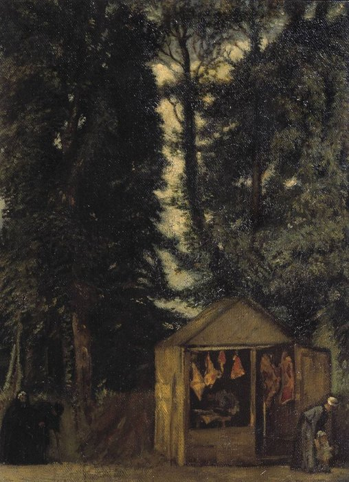 William Rothenstein The Butcher's Shop under the Trees 1899
