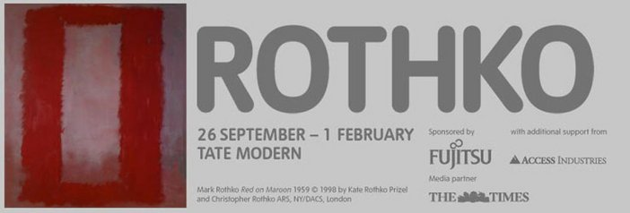 Exhibition banner for Mark Rothko at Tate Modern