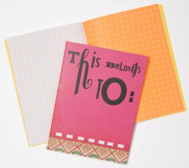 Sara Fanelli Pink Notebook