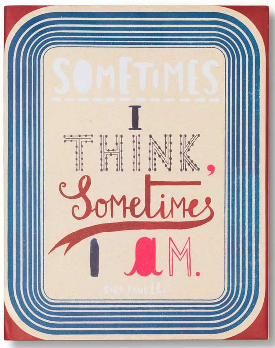 Sara Fanelli - Sometimes I Think, Sometimes I Am book from Tate Publishing