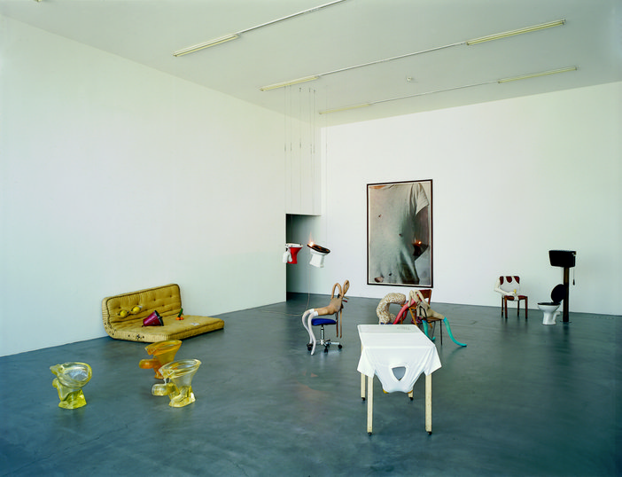 Sarah Lucas Installation view of entrance hall two