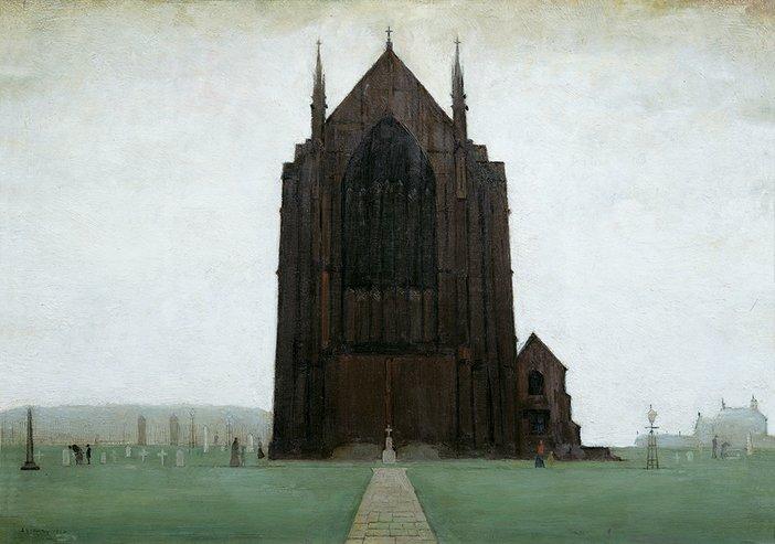 LS Lowry, St Augustine's Church, Pendlebury 1924