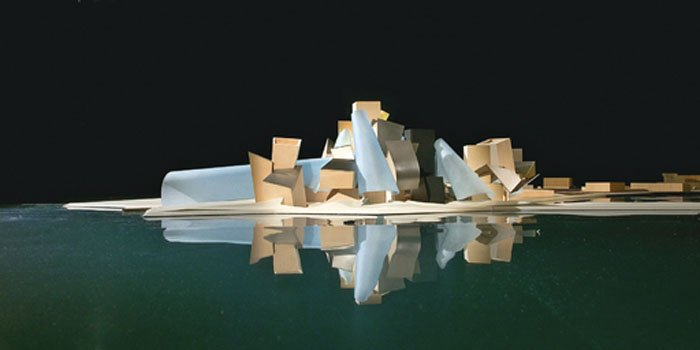 Scale model of Frank Gehry Guggenheim Abu Dhabi