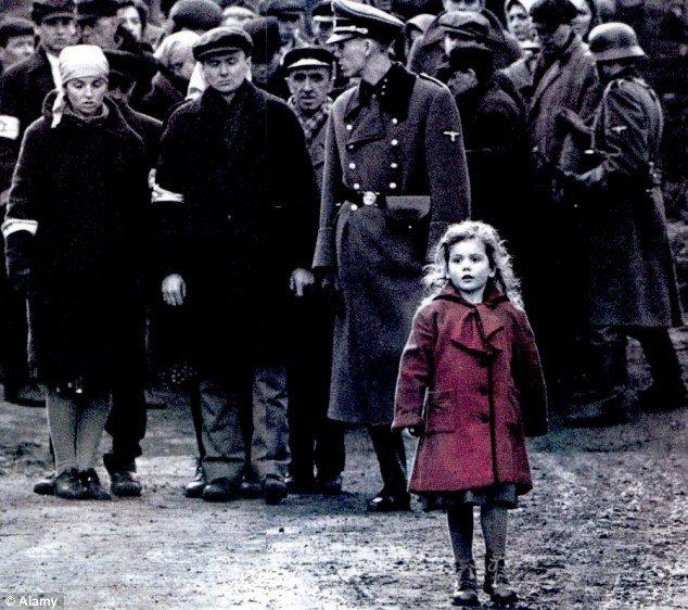 Girl in Red coat in Steven Spielberg's Schindler's List, 1993