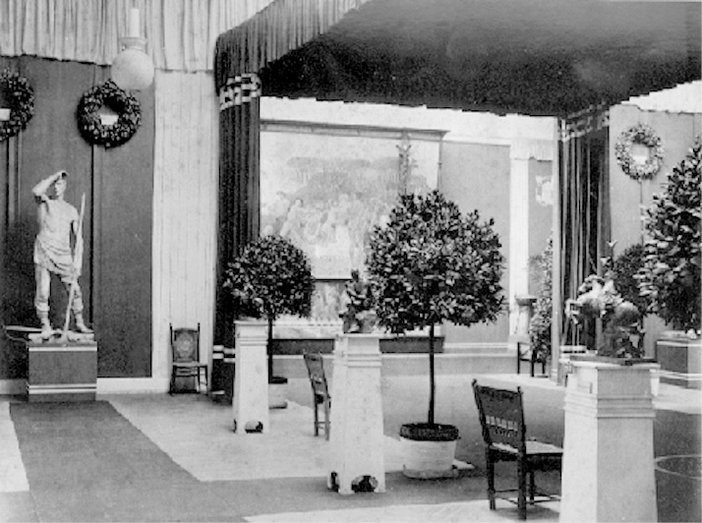 Interior of the Secession building at its opening in 1898