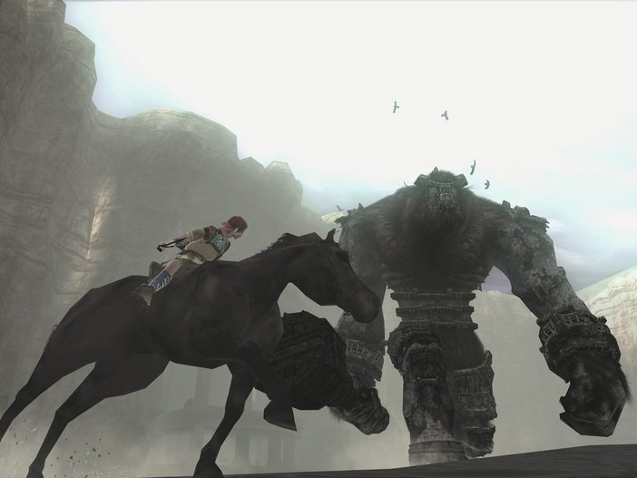 Art direction in video games Shadow Colossus 1