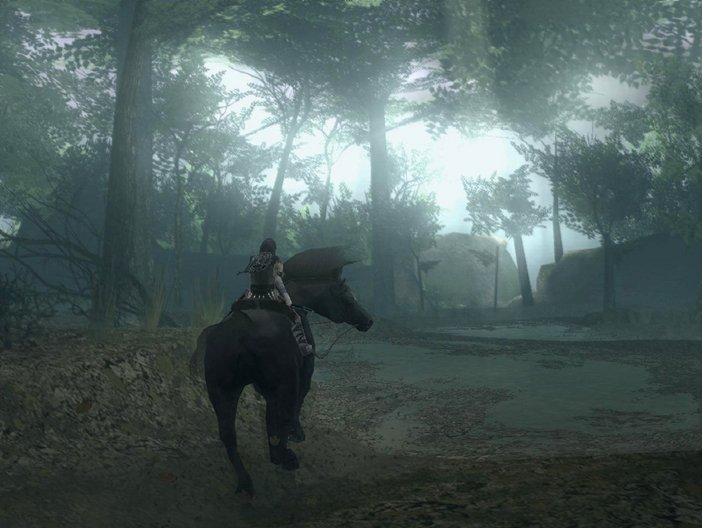 Art direction in video games Shadow Colossus 2