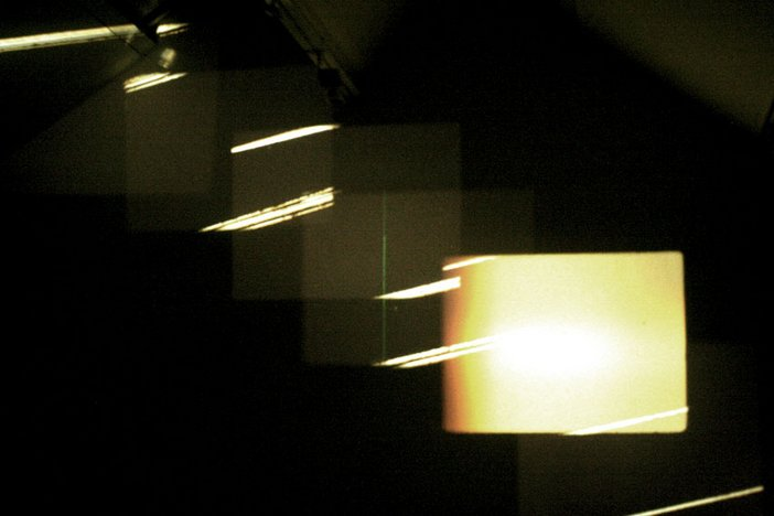 Guy Sherwin & Lynn Loo, Sound Cuts 2009, photo from Kill Your Timid Notion, Dundee, 2009