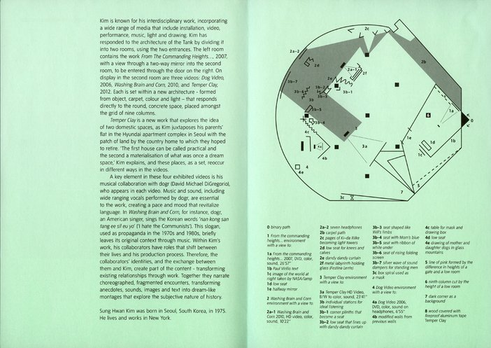 Leaflet for Sung Hwan Kim's commission for The Tanks: Art in Action at Tate Modern 2012
