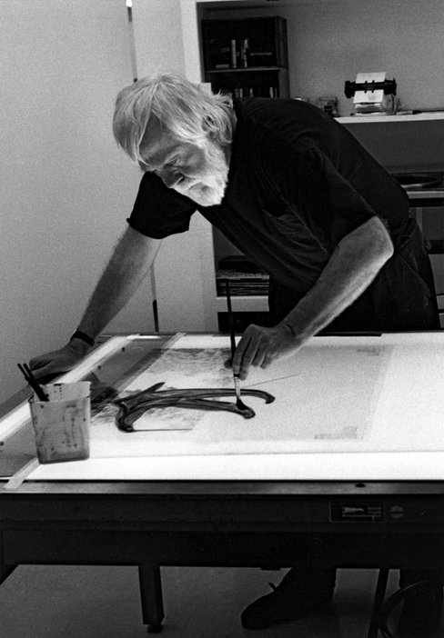 Sidney B. Felsen John Baldessari in his studio 1992