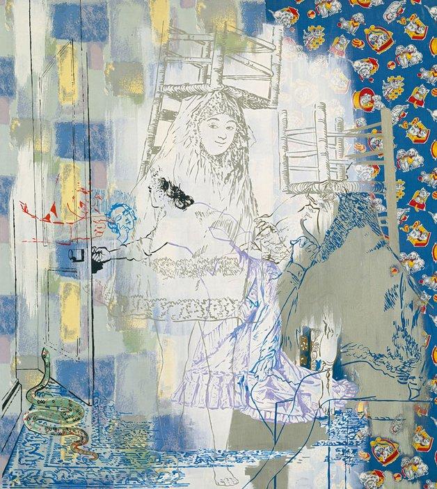 Sigmar Polke So sitzen Sie richtig (nach Goya und Max Ernst) 1982
