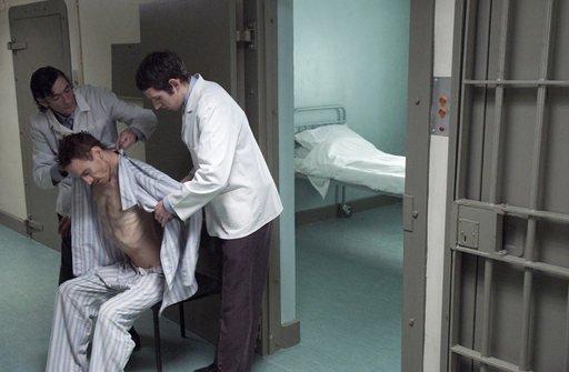 Steve McQueen Hunger film still Bobby Sands on Hunger strike