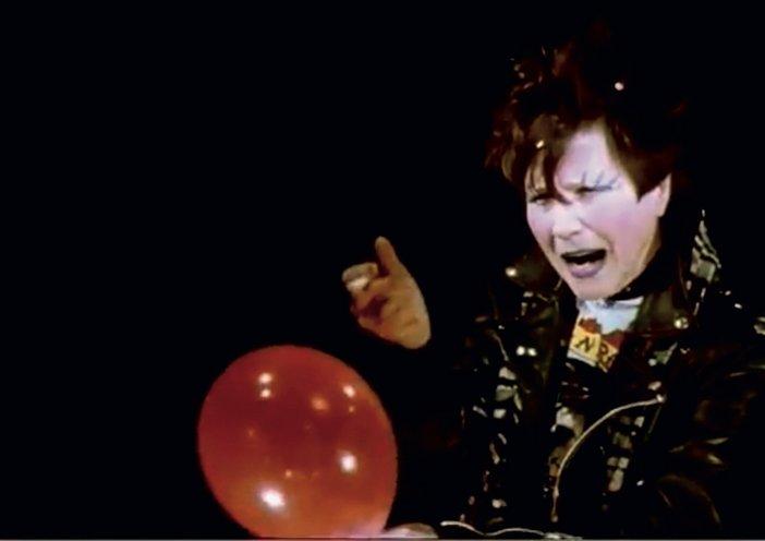Still from Maria Lassnig's film Cantata, 1992