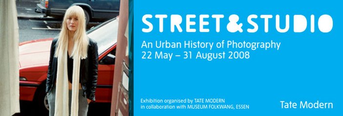 Exhibition banner for Street and Studio at Tate Modern
