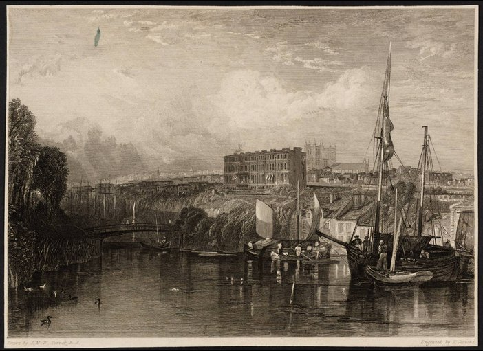 Exeter, engraved by T. Jeavons by J.M.W Turner