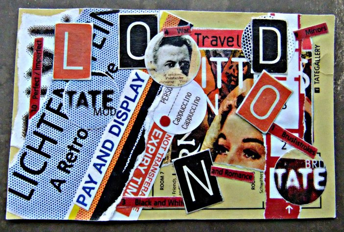 Tate collage postcard by blogger Distinctly Daisy