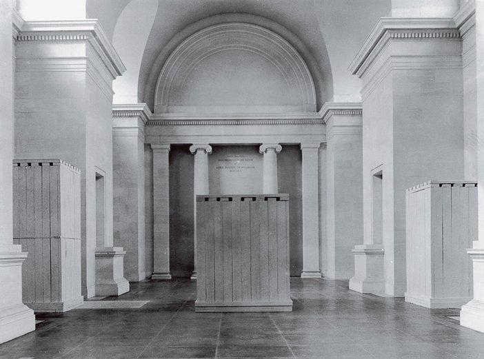 ate works ready for storage in the North Duveen Gallery, Tate Britain 1939