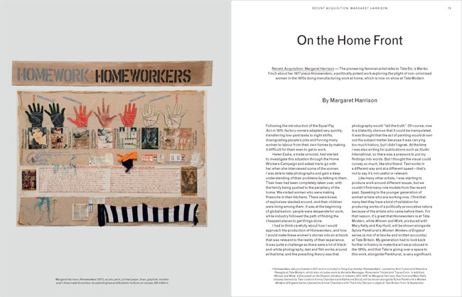 Tate Etc. issue 29 (Autumn 2013) - Margaret Harrison