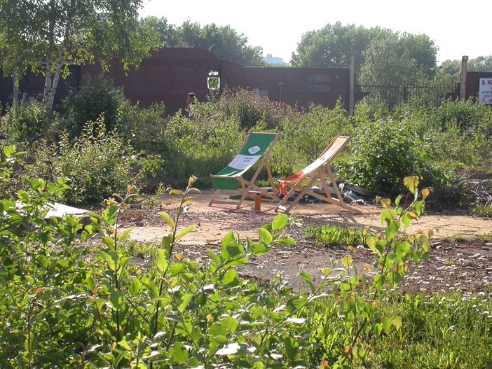 Brownfield sites can be used for many things, including sunbathing