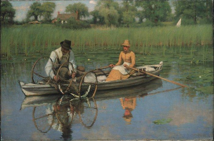 Thomas Frederick Goodall, The Bow Net, 1885–6