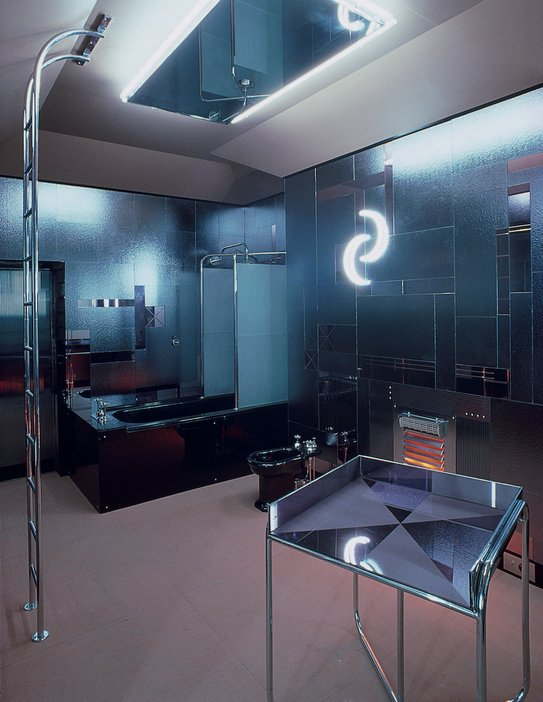 Bathroom designed by Paul Nash for Austrian ballet dancer Tilly Losch in 1932, re-created 1978