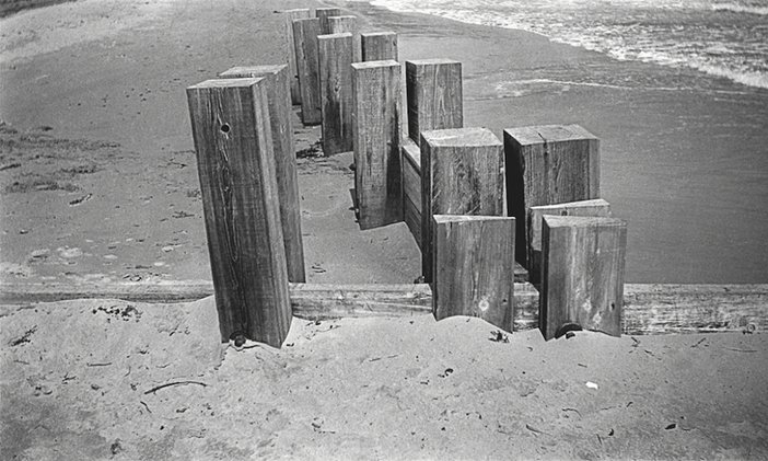 Breakwater at Dymchurch, Kent, photographed by Paul Nash in 1932