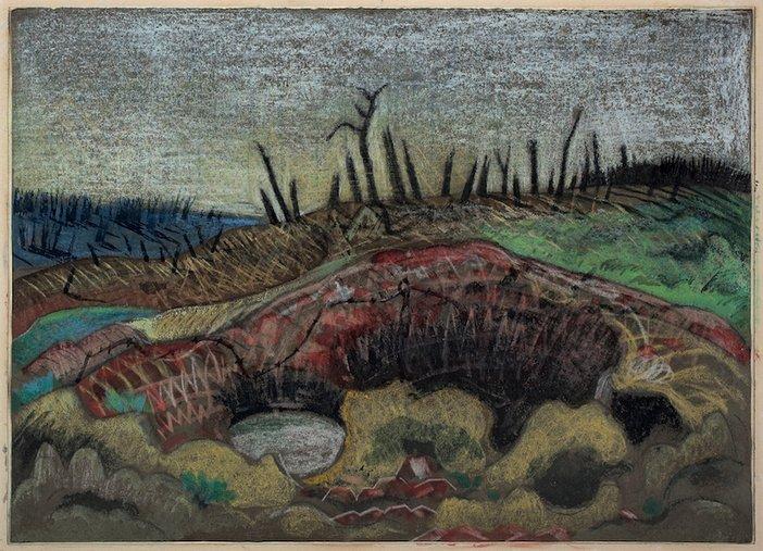 Paul Nash, A Farm, Wytschaete, 1917