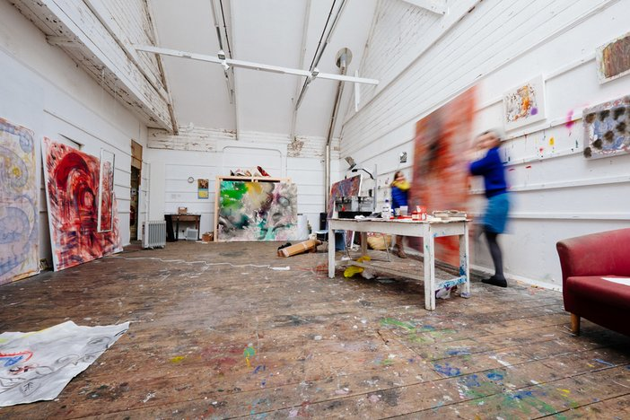 TSI Artists Programme artists in residence in their studios