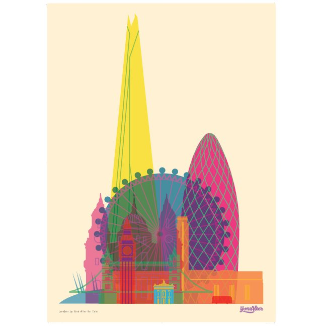 Yoni Alter's exclusive London poster for the Tate shop