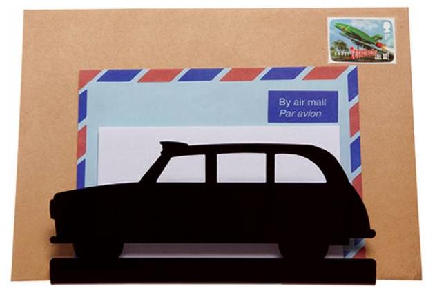 Black London cab letter rack