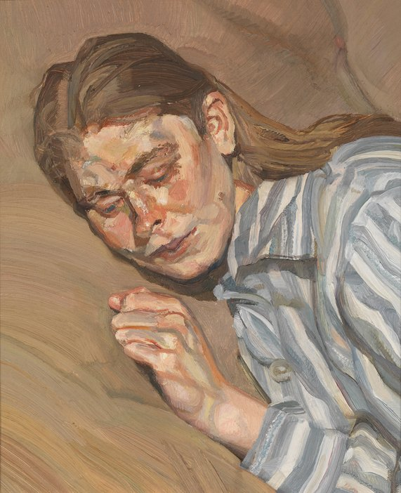 Lucian Freud, Girl in a Striped Nightshirt 1983-5