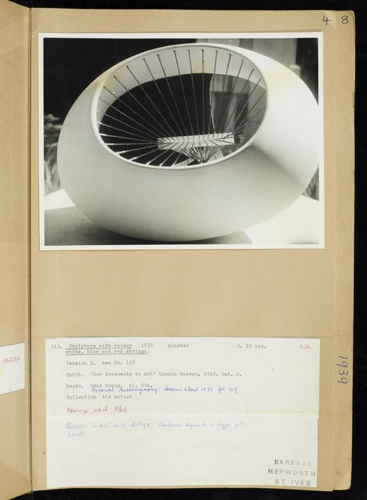 Dame Barbara Hepworth, Volume of sculpture records, Page 4, TGA 7247/12