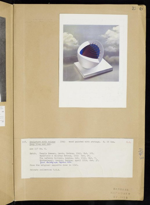 Dame Barbara Hepworth, Volume of sculpture records, Page 2, TGA 7247/13
