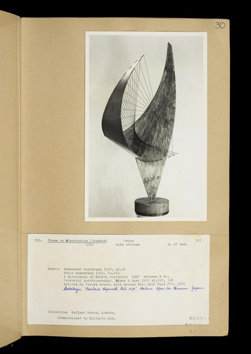 Dame Barbara Hepworth, Volume of sculpture records, Page 30, TGA 7247/26