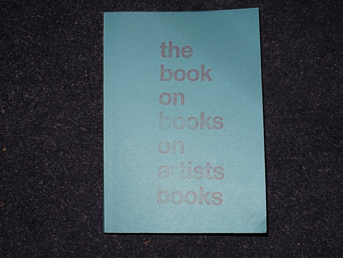 'The Book on Books on Artists Books', from The Everyday Press