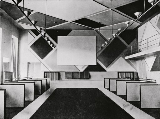 The cinema and ballroom of the Cafe Aubette designed by Theo van Doesburg photographed in 1928